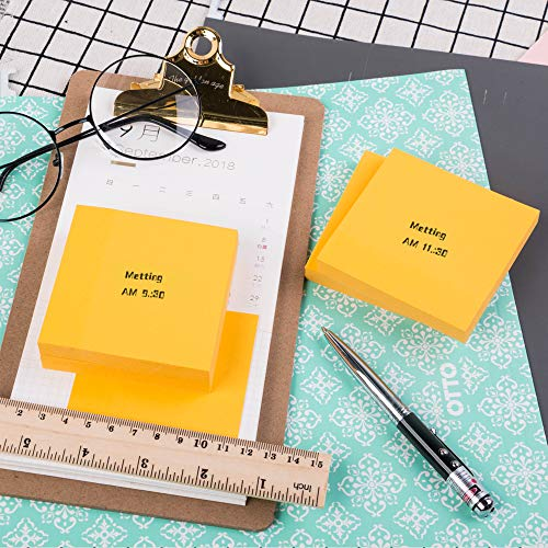 Eagle Sticky Notes,Golden Yellow Colour 3x3 in, Self-Stick Notes for Office, School, Home, DIY Projects,100 Sheets/Pad,4 Pads/Pack