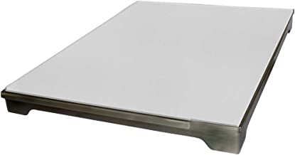 Cal Flame BBQ07900 Grill Ceramic Pizza Brick Tray, ONE Size FITS, Stainless Steel