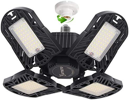 LED Garage Light Yurnero 100W 10000LM Deformable LED Garage Ceiling Light with 4 Adjustable product image