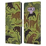 Head Case Designs Licenza Ufficiale Chobopop Camouflage Dinosauri Cover in Pelle a Portafoglio Compatibile con Samsung Galaxy Note9 / Note 9