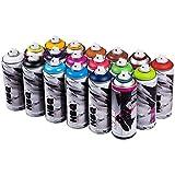 NBQ PRO 400 ml beliebtes Farben Set 18 Graffiti Street Art Wandbild Spray Paint …