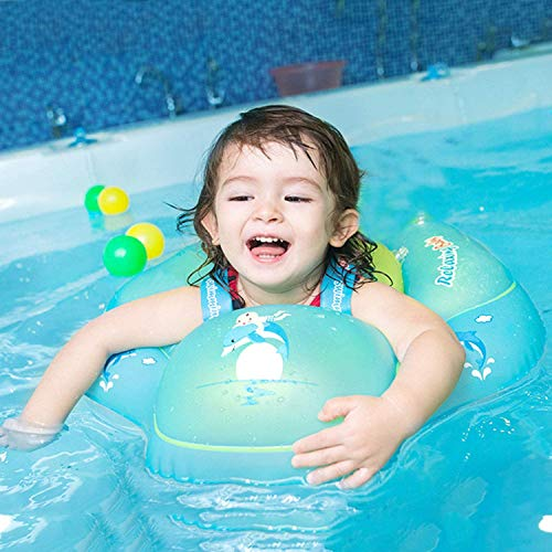 iGeeKid Baby Float [Upgraded Version] Baby Swimming Float with Safety Seat Crotch Strap and Adjustable Waist Strap Swim Trainer for Toddler Infant (Small)