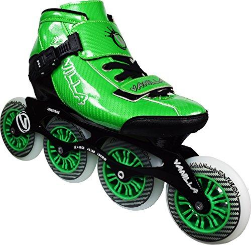 VNLA Carbon Speed Inline Skates Green 4