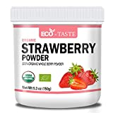 Organic Strawberry Powder, 5.3oz(150g), Natural Freeze Dried Fruit Powder. (5.3 oz)