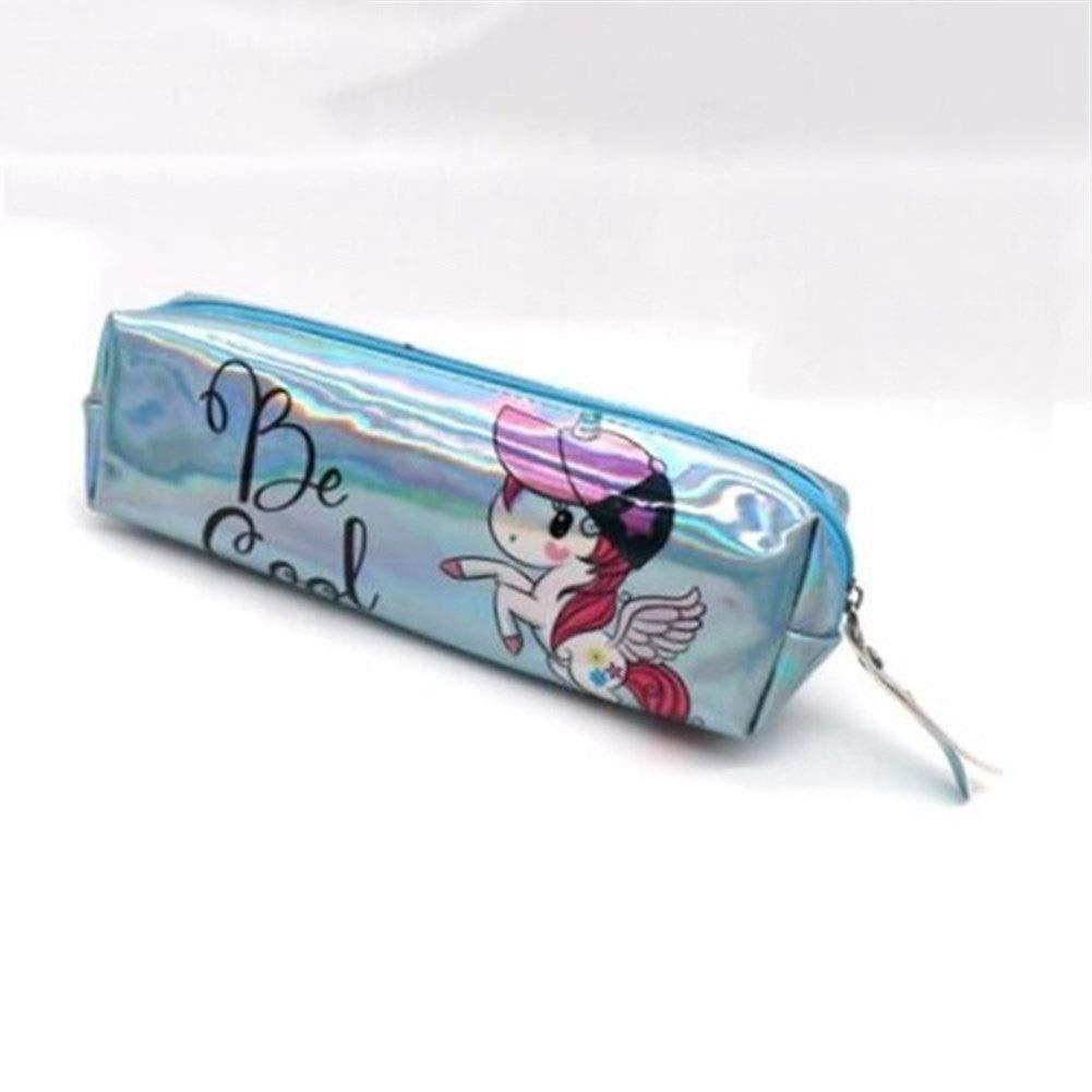 Caja de lápiz Estuche holográfico Iridiscente for niñas Boy PU Útiles Escolares Papelería Regalo Caja de lápices Linda Bolsa de lápices (Color : R): Amazon.es: Electrónica