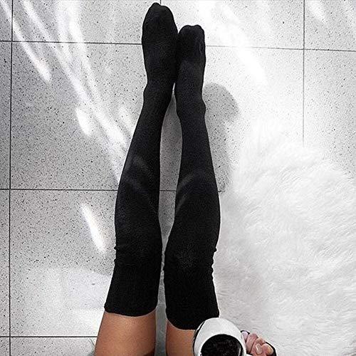 LIZANAN Las Mujeres Forman sobre la Rodilla pegan a la Hembra Medias Atractivas Caliente el Cargador Largo de Punto hasta el Muslo Medias Moda (Color : C, Size : One Size)