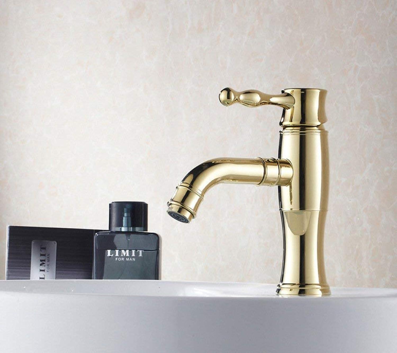 GONGFF Waschtischarmaturen Wasserhahn High-End-Armatur aus superleichtem Gold mit Bidetarmaturen langlebige europische Waschtischarmatur Edelstahlarmatur Waschtischarmatur mit Bidet