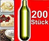 NEMT 200s 200 Stück N2O Sahnekapseln, passend für alle handelsüblichen Sahnebereiter von Liss, Mosa, iSi, Kayser, Mastrad, Cream Whipper Chargers