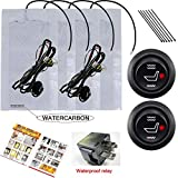 WATERCARBON Built-in Cushion Auto Universal Retrofit Warming Insert Heated Seat Heater Kits 2 Seat
