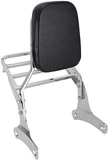 Mingting Detachable Chrome Sissy Bar Backrest Luggage Rack Compatible with Honda Shadow VT400/VT750 1998-2003