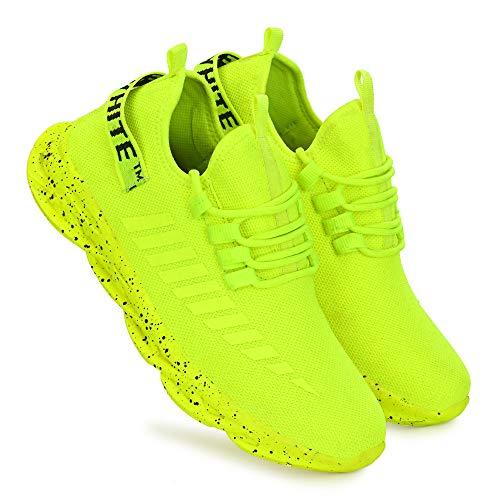 EZDEZARIO by Sklodge Men's Air Wonder Series Green Mesh Casual Sports Sneakers Shoes for Men & Boys, Walking,Running/Gymwear Shoes for Daily Use-9 UK/India (43 EU)