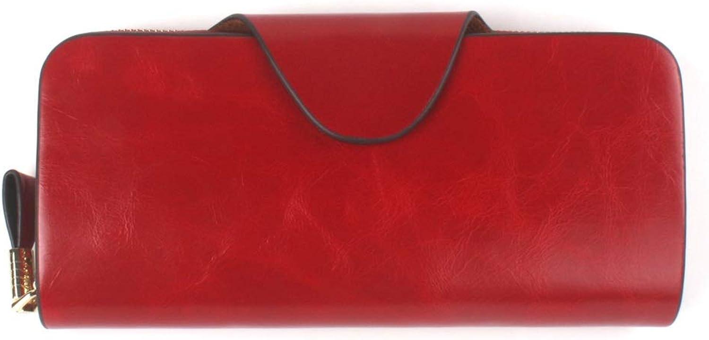PEJGD Damen Handtasche Handtaschen Frauen RFID Blocking Reißverschluss um Brieftasche Kupplung große Reise Geldbörse Wristlet Tasche Kartenpaket Schultertasche Umhängetasche (Farbe   Rot) B07Q98NWK3