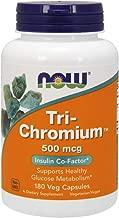 Now Supplements, Tri-Chromium™ 500 mcg with Cinnamon, 180 Veg Capsules