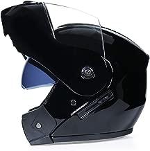 Helmet Motorbike Helmets Men Women Motocross Helmets Double Visors Racing Riding Safety Protective Filp-up Helmet CWCUICAN (Color : 04Black, Size : M)