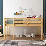 Twin Loft Bed for Kids and Toddlers Low Loft...