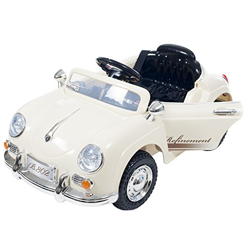 Ride On Toy Car, Battery Operated Classic Sports Car With Remote Control and...