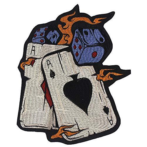 EMDOMO Dice Poker Borduurwerk Patches voor Kleding Stickers Biker DIY Jeans Jas Ijzer op Badge 1 stuk