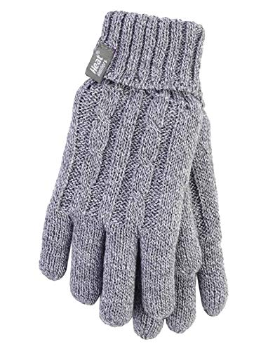 HEAT HOLDERS - Damen Thermisch Winter Handschuhe in 7 Farben (S/M, Grau)