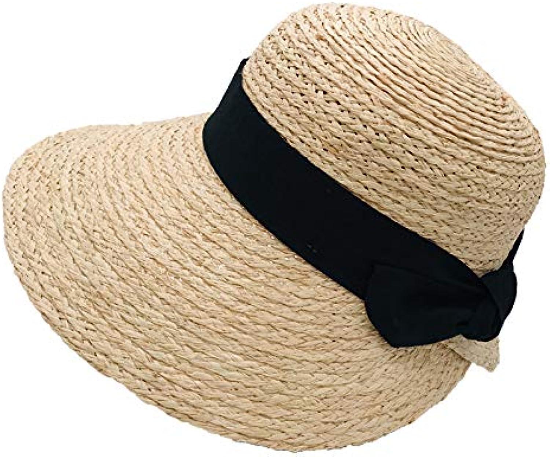 Women's Super Absorbent Visor. Lafite Hat Female Summer Leisure Vacation Travel Sun Hat Bow Retro Sun Hat  Foldable Beach Sun Hat Upf50 +
