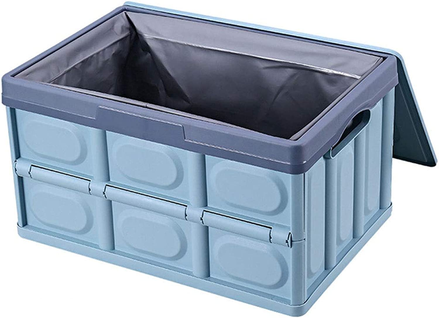 Foldable Car Trunk Storage Box Nordic Style PP Polypropylene Material Household Storage Box Makes Your Amazing Space Saving (color   bluee, Size   S)