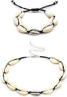 Hawaiian Sea Shell Necklace Bohemian Beach Bracelet Choker Set Jewelry for Women