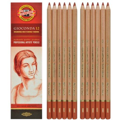 matita professionale in creta colore rossa sanguigna a densità di colore variabile H8802 Kohinoor