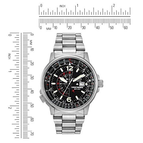 Citizen Men's Eco-Drive Promaster Nighthawk Dual Time Watch