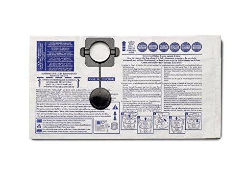 Gisowatt 83 144B0I Confezione 5 Sacchi Orizzontali in Carta Filtrante per PC15, Lavamatic, Techno Cleaner 15, Accessorio