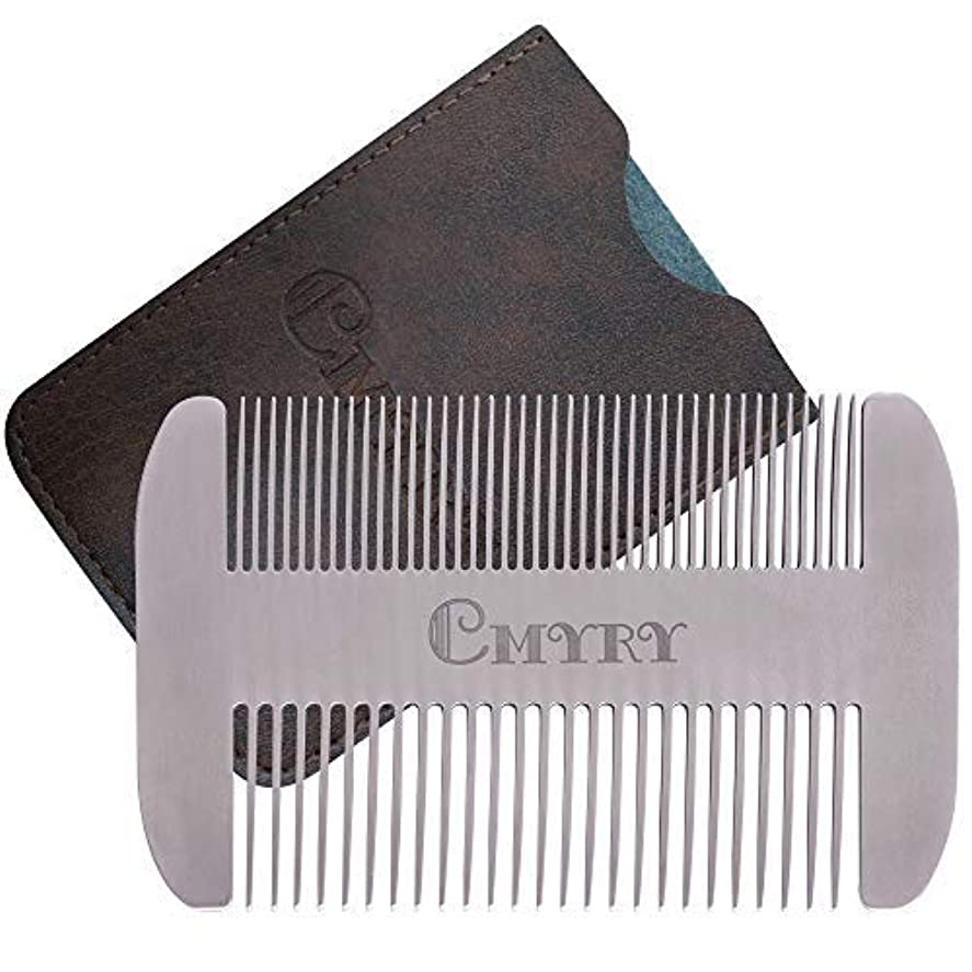 満たす脊椎マリナーBeard Comb EDC Mustache Stainless Steel Wallet Comb Beard & Hair Pocket Mini Anti-Static Comb for Man(travel metal wallet) [並行輸入品]