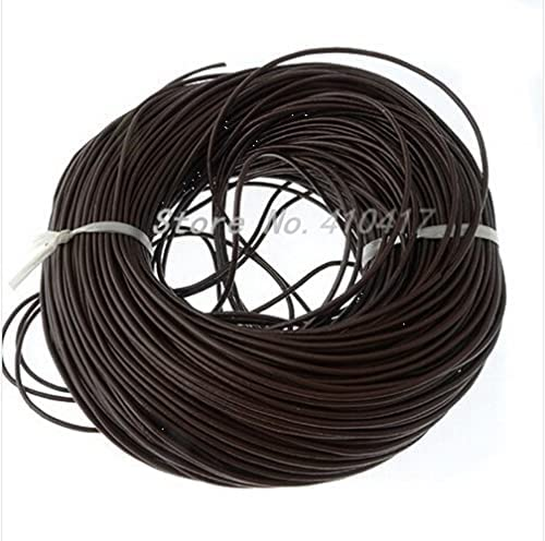 2021new shipping free shipping Crafts Cord 20Yards 2mm Brown Color Real Smooth Co Leather online shop Round
