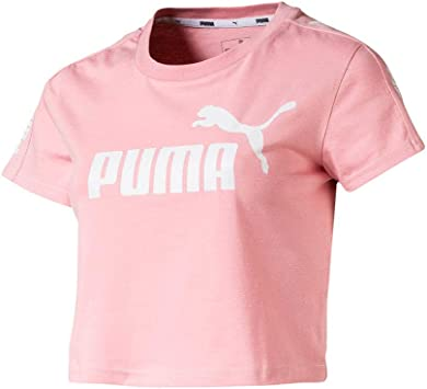 PUMA Camiseta Amplified Logo Fitted Rosa Mujer
