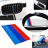 iJDMTOY 10-Inch M-Colored Stripe Decal Sticker Compatible With BMW Exterior or...