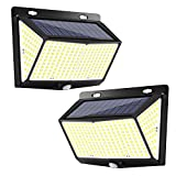 Solar Lights Outdoor 288 LED(2 Packs), Extra-Large, Wall Lights, Exterior Wall Lights, Outdoor Solar Motion Sensor Lights with 3 Lighting Modes, 270° Wide-Angle Lighting, IP65 Waterproof (Two Packs)