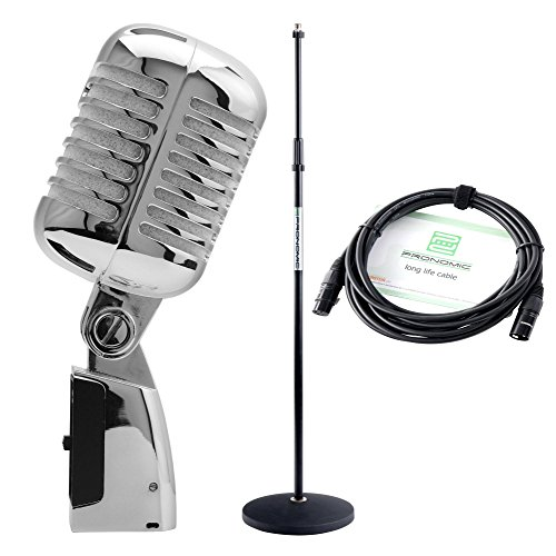 Pronomic DM-66S Elvis-Mikrofon dynamisch silber SET