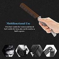 錆びにくい口ひげの櫛、あごひげの櫛、髪の口ひげをグルーミングするための軽量のステンレス鋼