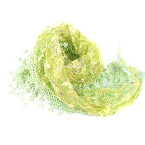 HENGSONG Damen Spitze Quaste Schals Halstuch Frühling Herbst Kleidung Zubehör (Grün)
