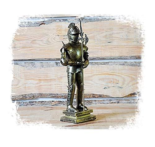 SDBRKYH Mittelalterliche Rüstung Skulptur, antike römische Soldat Statue Ritter Krieger Skulptur Retro-Modell Desktop Iron Crafts