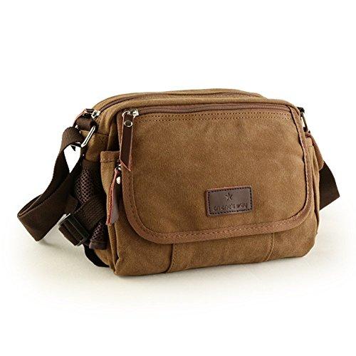 Sincere® sac d'épaule de loisirs hommes / paquet diagonale / sac extérieur / sac de sport-Brown 1