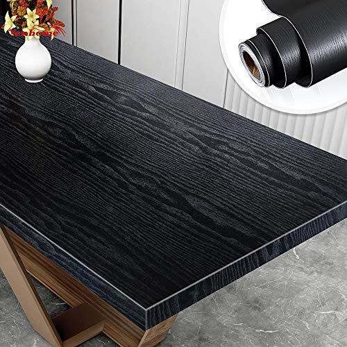 BLOUR Holzmaserung Esstisch Tapete Selbstklebende wasserdichte Vinyl Kleiderschrank Schrank Arbeitsplatte Renovierung Aufkleber Raumdekoration