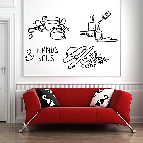LKJHGU Nagel Vinyl Wandaufkleber Maniküre Pediküre Spa Nägel Einführung Wandaufkleber Küche und Esszimmer Wandaufkleber