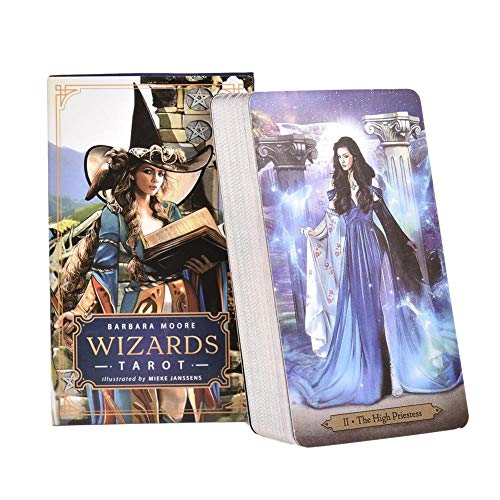 YUNMEI Tarot Cartas Wizards Tarot Cards Barbara Moore Te Deleitará con Cada Voltereta De Las Cartas Misterios De Poder Sin Límites Jugando A La Carta