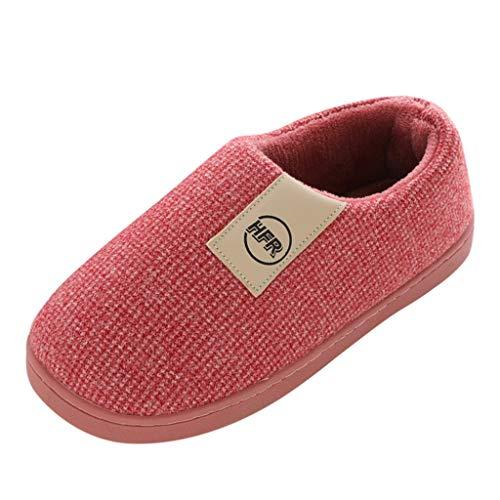 TOPKEAL Zapatillas de algodón para Mujer 4/5 Reino Unido rojo