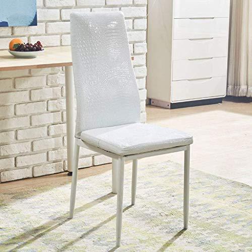 YUMUO Tulip Dining Chair Patas de Metal Natural con Almohadilla Acolchada Diseñador contemporáneo para Office Lounge Dining Kitchen (Color: Blanco)
