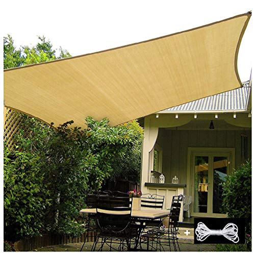 Sun Shade Sail Can Be Used for 5 Years 44 Sizes Sunscreen Awning Canopy Suitable for Protecting Plants, Garden, Car Sunshade Breathable Shade Dispenser