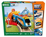 Take control of the play with this 14-piece interactive toy train set - the Action Tunnel Circle Set. Added Smart Tech Sound technology allows the battery-powered Record & Play Engine to communicate with its surroundings, automatically responding to ...