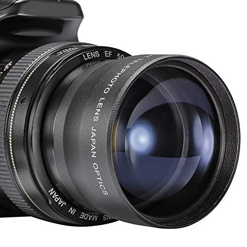 High Definition 2x telelens, 58 mm camera teleconverter met 62 mm frontdraad voor lensfilters, 2 keer vergrotingslens Verre landschapsfotografie