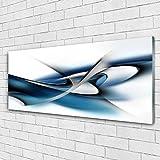 Tulup Impression sur Verre de 125x50 cm - Image - Tableau - Photo décorative panoramique - Art Abstrait