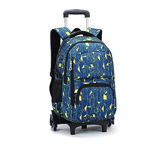 XHHWZB Trolley Bag Cadeaux Rentrée Scolaire Sac à Dos avec Roulette Racchette Cartable Bagagli Cabine Loisir Voyage Fille Garçon 6 Roues 49 * 32 * 18cm (Colore : B)