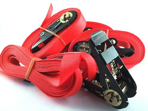 Lote de 4 correas tensoras con mecanismo de trinquete (5 m, normativa EN), iapyx®