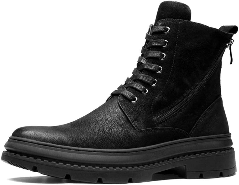 Men'S Boots Martin shoes Winter Plus Velvet England Boots Men'S Tooling Boots Big shoes Hiking Boots